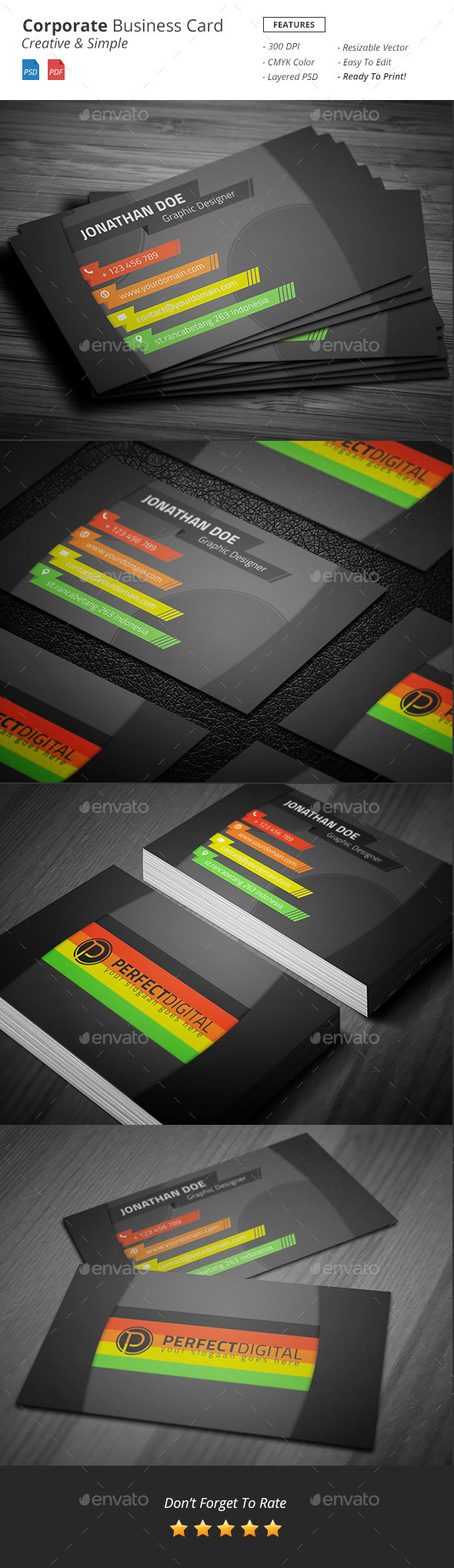 GraphicRiver Corporate Business Card 11072739