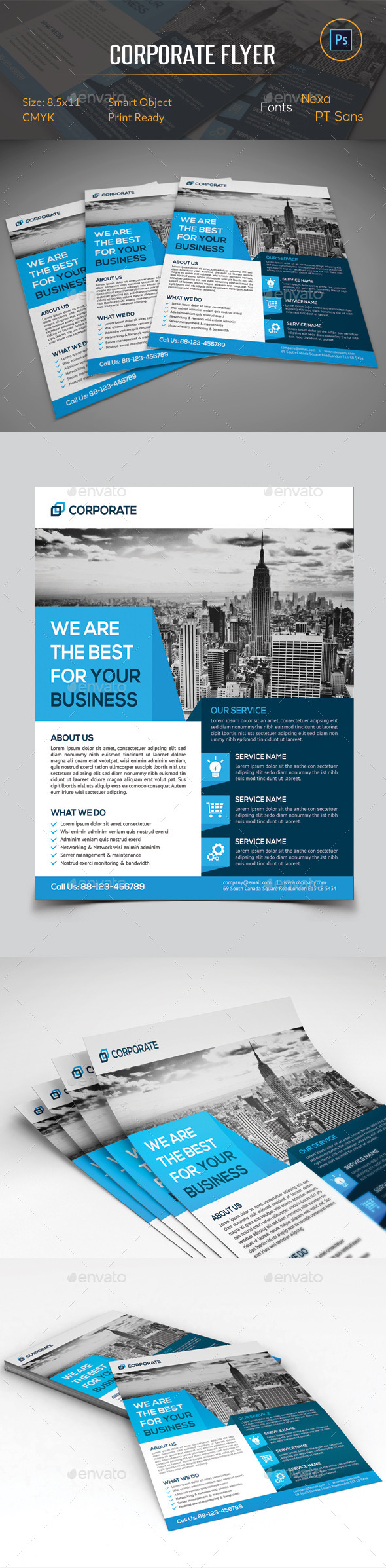 GraphicRiver Corporate Business Flyer 11072819