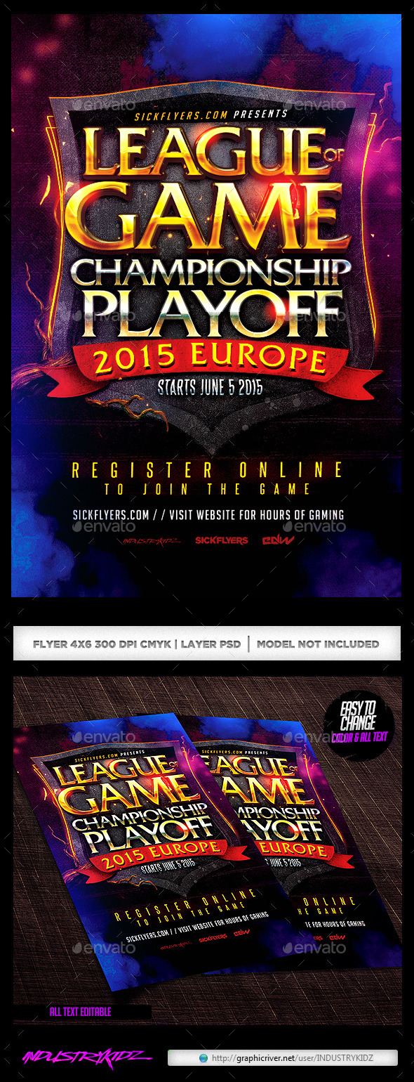 GraphicRiver Online Gaming Flyer 11072900
