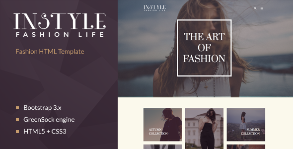 ThemeForest Instyle Fashion & Elegant HTML Template 11055437