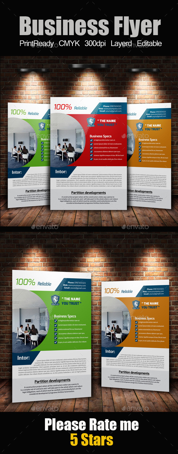 GraphicRiver A4 Business Flyer Template 11072986