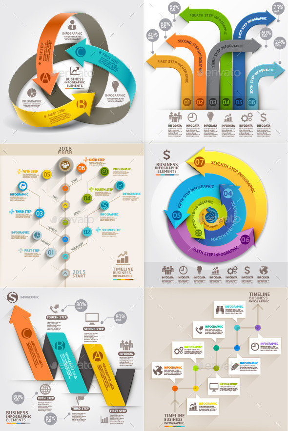 GraphicRiver Arrows Business Marketing Infographic Template 11073204