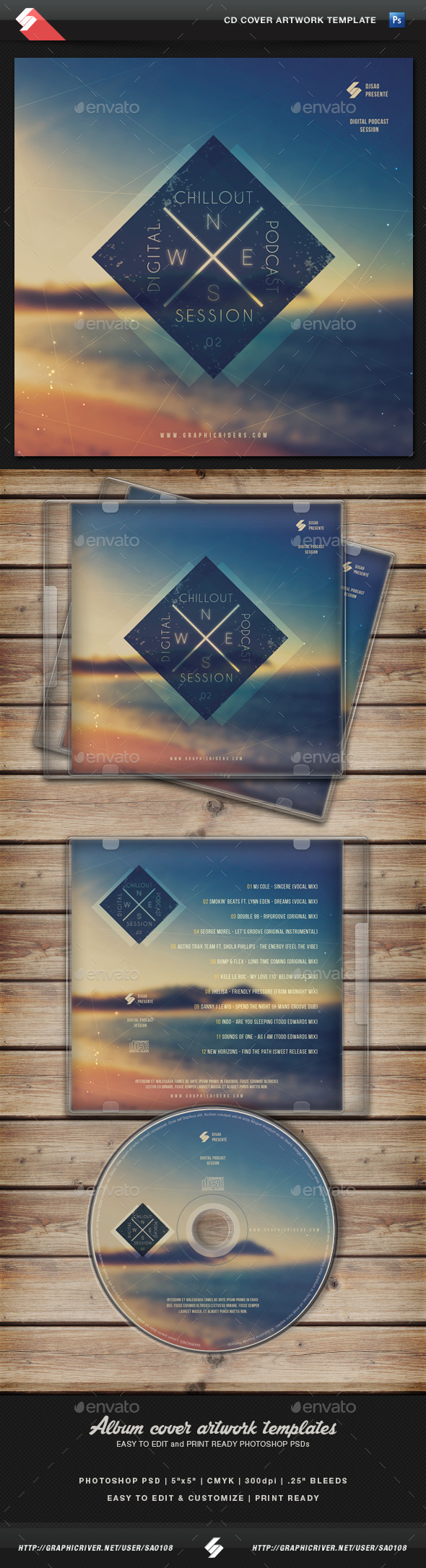 GraphicRiver Chillout Session CD Cover Artwork Template 11073376
