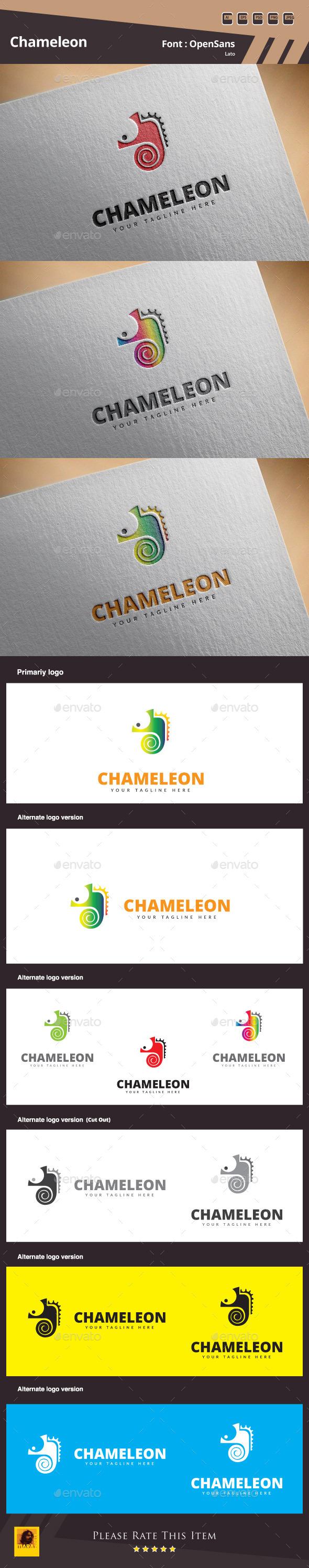 GraphicRiver Chameleon Logo Template 11073594