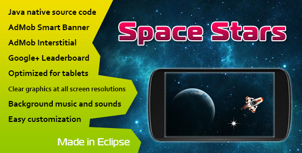 CodeCanyon Space Stars with AdMob and Leaderboard 11073906