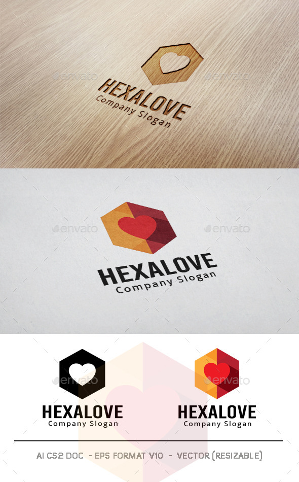 GraphicRiver Hexa Love Logo 11074176