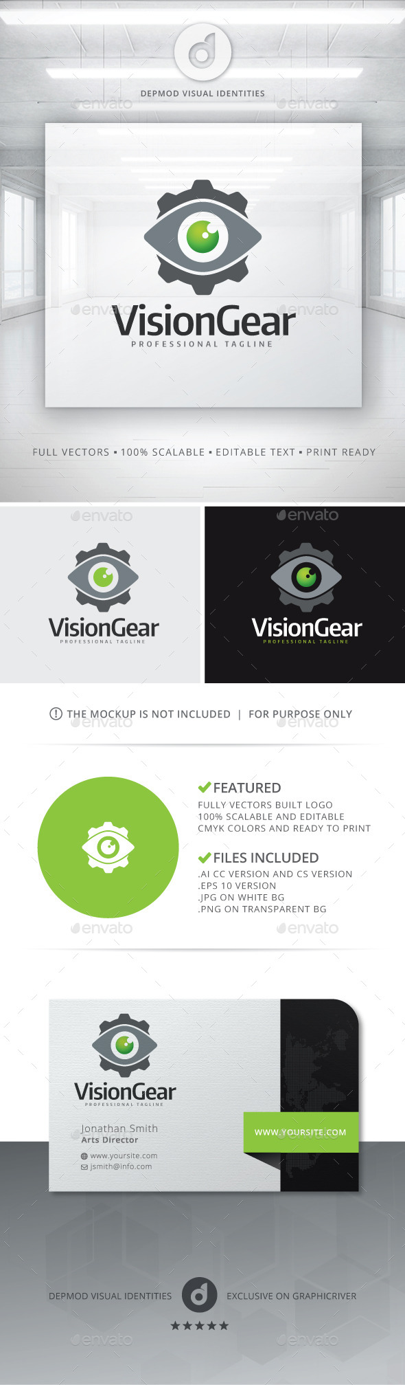 GraphicRiver Vision Gear Logo 11074373