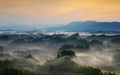 Beautiful fog with mountains - PhotoDune Item for Sale