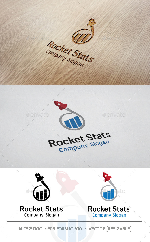 GraphicRiver Rocket Stats Logo 11074629
