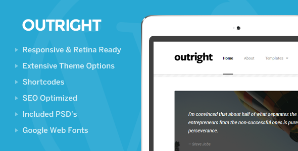 Outright: WordPress Responsive Blog Theme - Personal Blog / Magazine