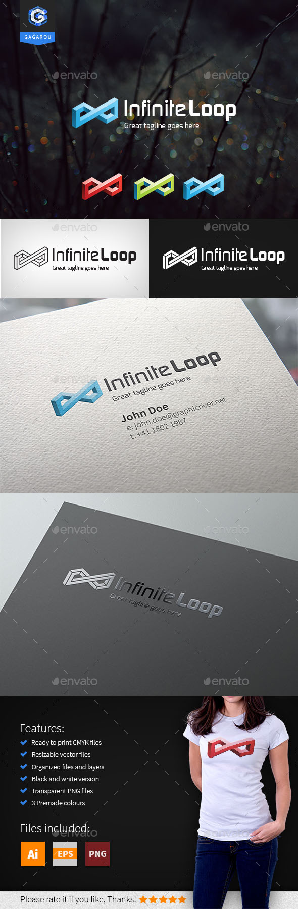 GraphicRiver Infinite Loop Logo 11074681