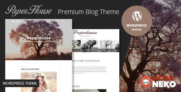 ThemeForest Paperhouse Blog WordPress Theme 11074687