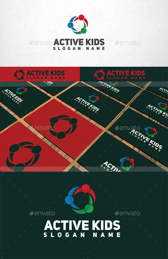 GraphicRiver Active Kids Logo 11074689