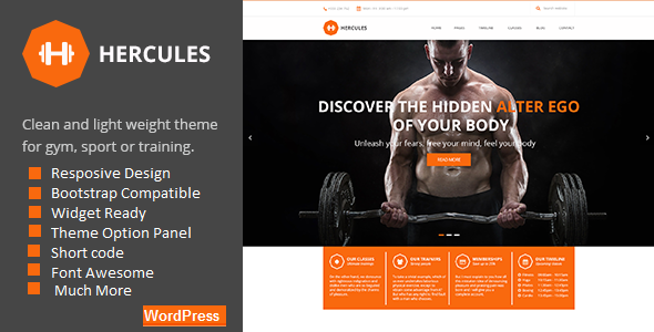 Hercules | Gym Fitness WordPress Theme - Health & Beauty Retail
