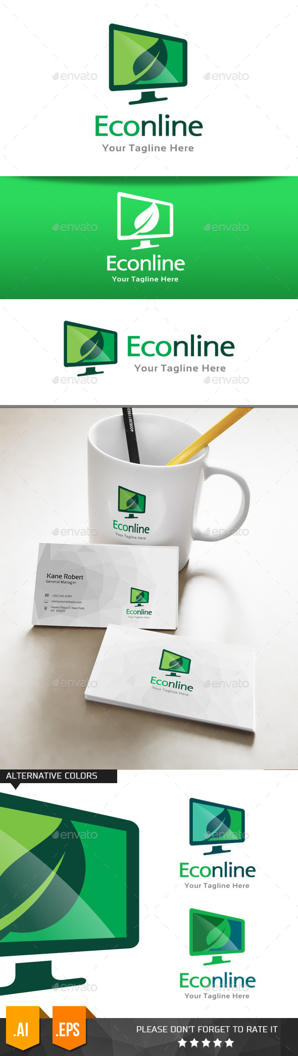 GraphicRiver Eco Online Logo Template 11074757