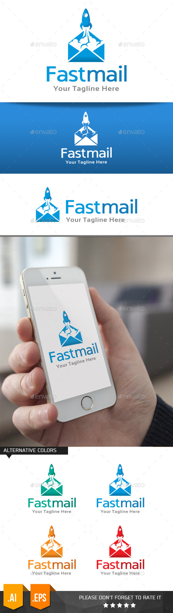 GraphicRiver Fast Mail Logo Template 11076004