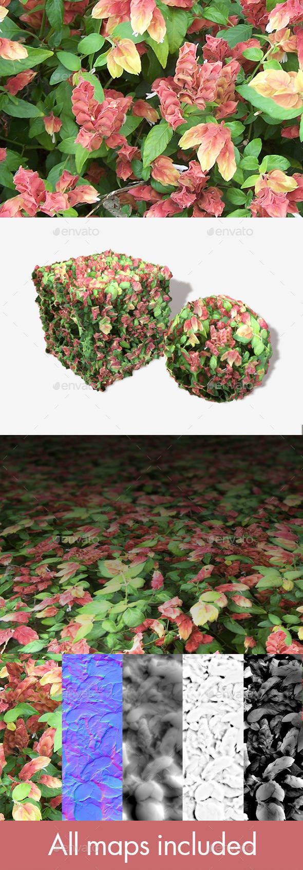 Strange Plants Seamless Texture - 3DOcean Item for Sale
