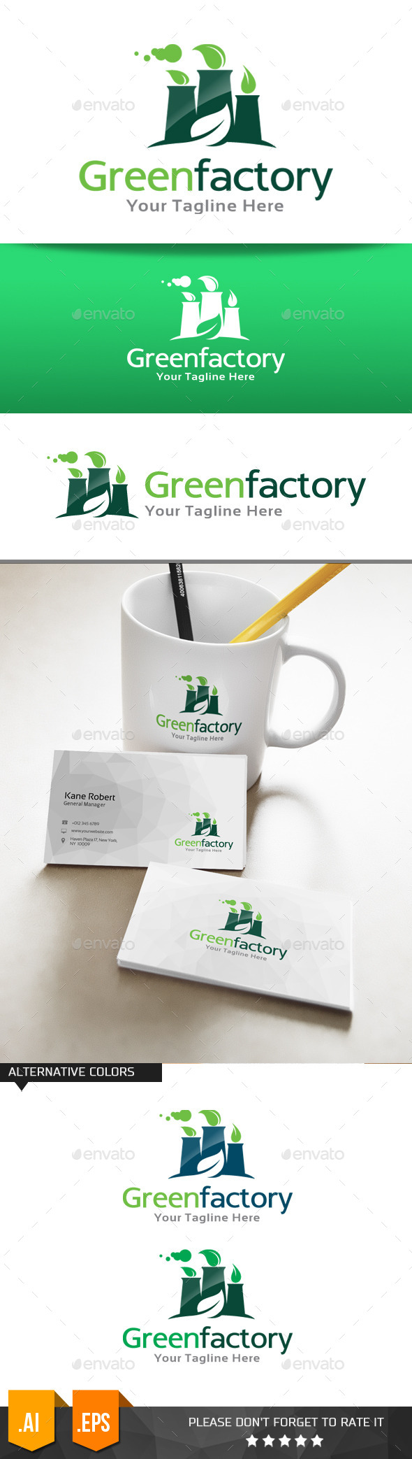 GraphicRiver Green Factory Logo Template 11078066