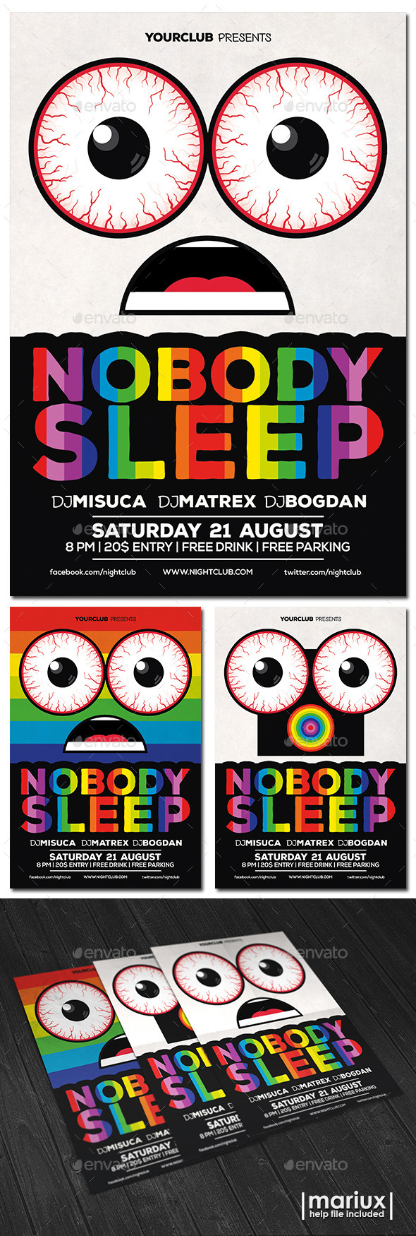 GraphicRiver Nobody Sleep Party Flyer 11078832