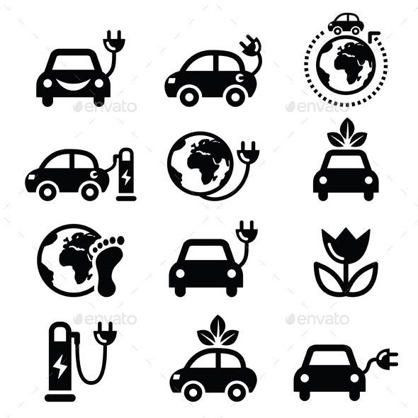 GraphicRiver Electric Green Car 11078831