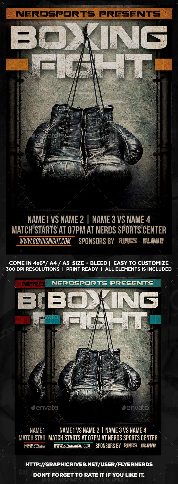 GraphicRiver Boxing Fight Sports Flyer 11078837