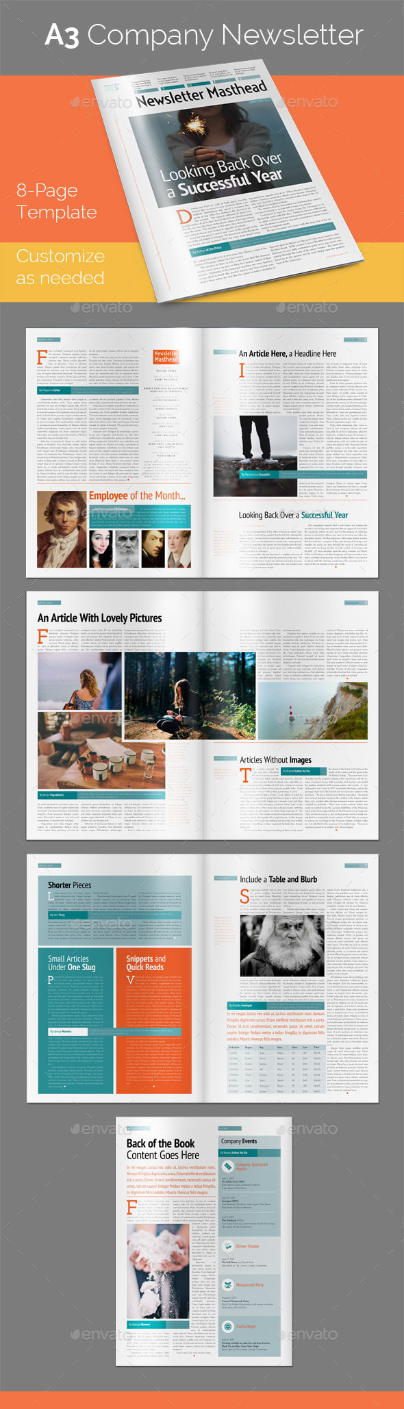 GraphicRiver 8-Page A3 Company Newsletter 11078862