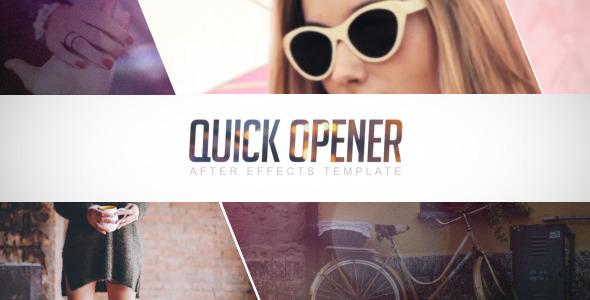 AE模板:动感快节奏 时现代电影频道 电视栏目包装模板Quick Opener