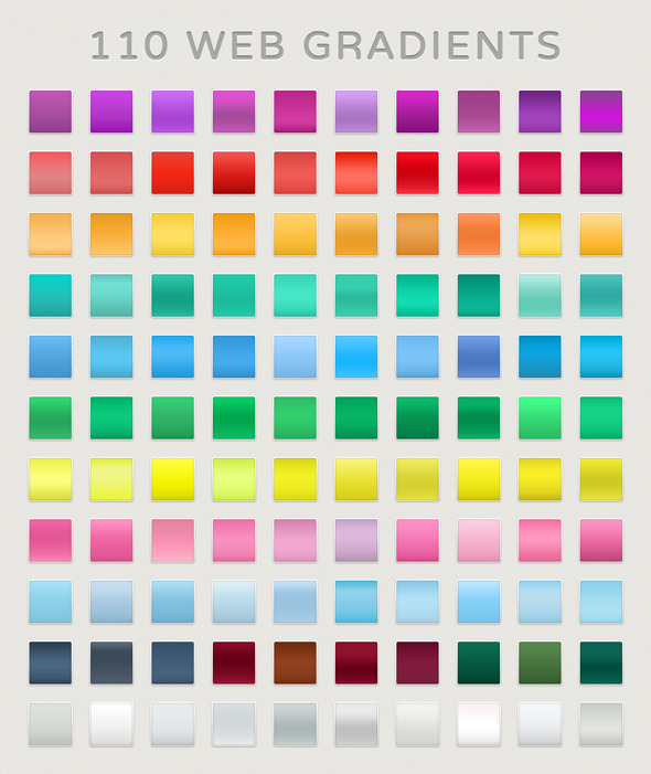 GraphicRiver 110 Web Gradients 11078882