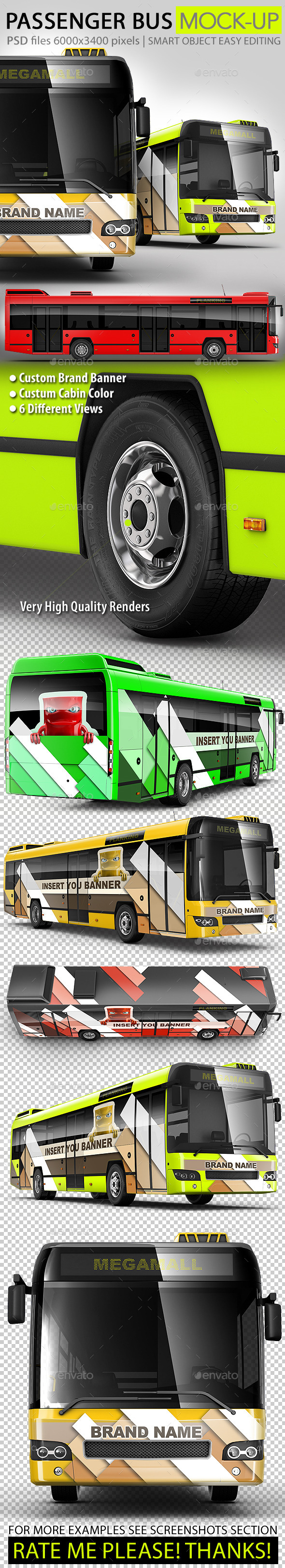 GraphicRiver Bus passenger bus large Bus mock-up 11078888