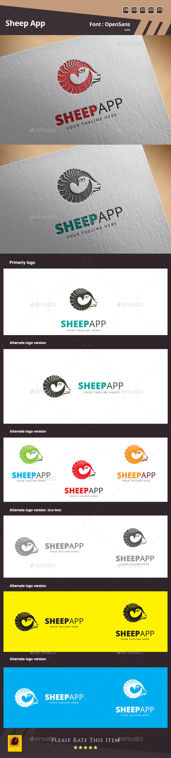 GraphicRiver Sheep App Logo Template 11078891