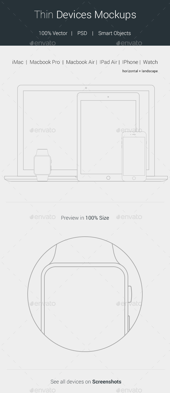 GraphicRiver Thin Devices Mockups 11079092