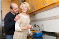 Husband helping wife to cook - PhotoDune Item for Sale