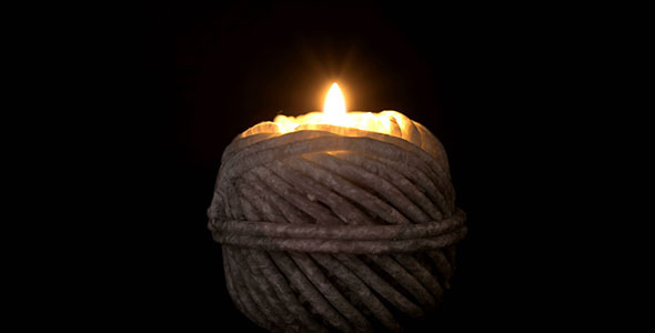 VideoHive Ball Of String Shape Candle Burning 11079309