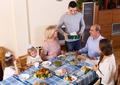 happy family celebrating birthday at festive dinner - PhotoDune Item for Sale
