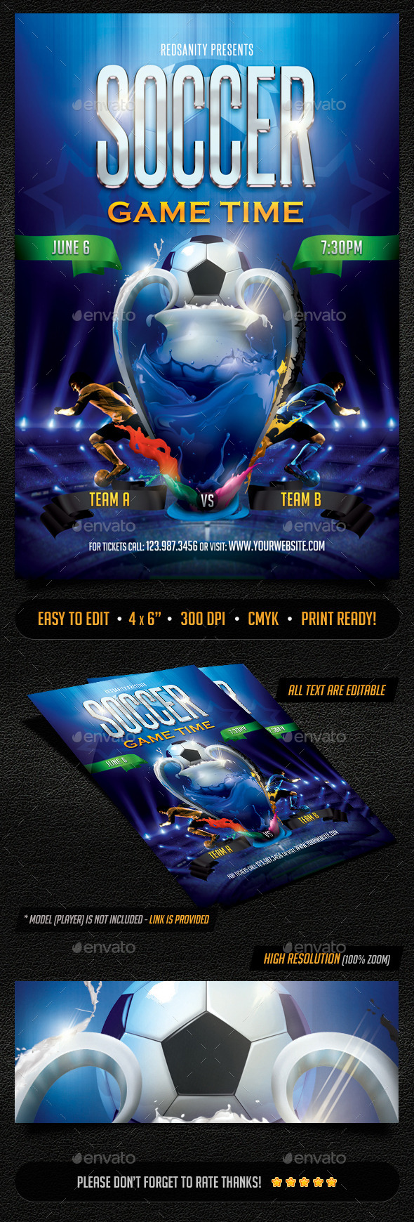 GraphicRiver Soccer Game Time Flyer 11032603