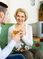 Happy mature woman with  boyfriend having date - PhotoDune Item for Sale