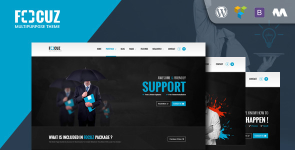 ThemeForest Focuz Multipurpose WordPress Theme 11079386