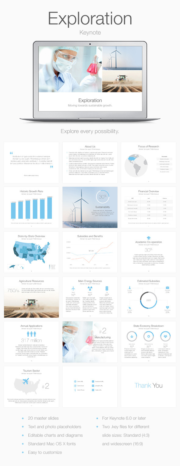 GraphicRiver Exploration Keynote Template 11079451