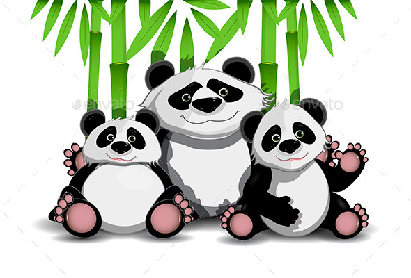 GraphicRiver Family of Pandas 11079721