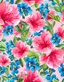 Exotic Seamless Background with Pink Tropical Flowers - PhotoDune Item for Sale
