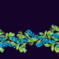 Botanical Seamless Border with Blueberries. - PhotoDune Item for Sale