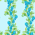 Watercolor Seamless Background with Blue Berries - PhotoDune Item for Sale