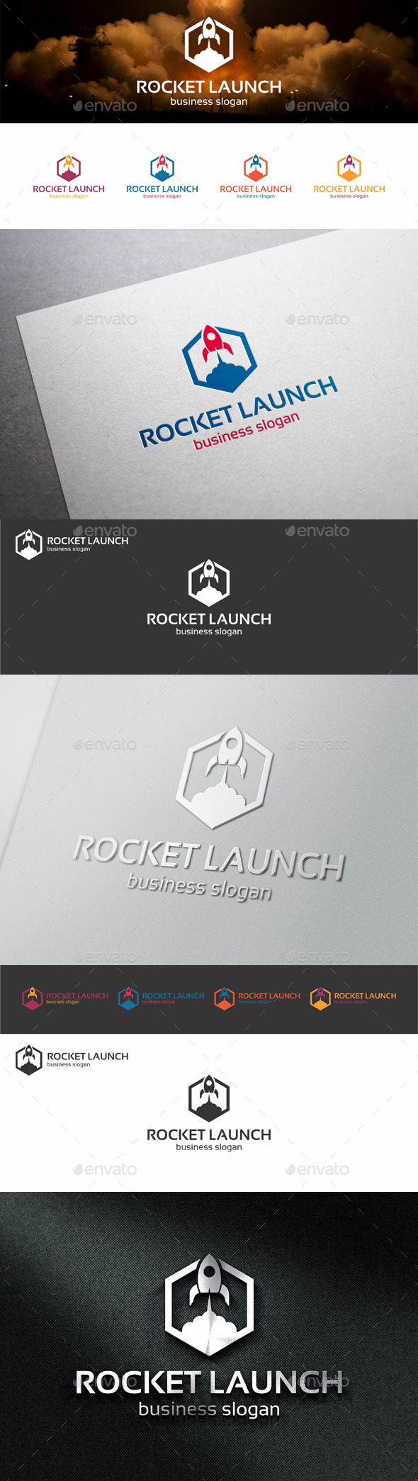GraphicRiver Rocket Launch Web Logo 11079999