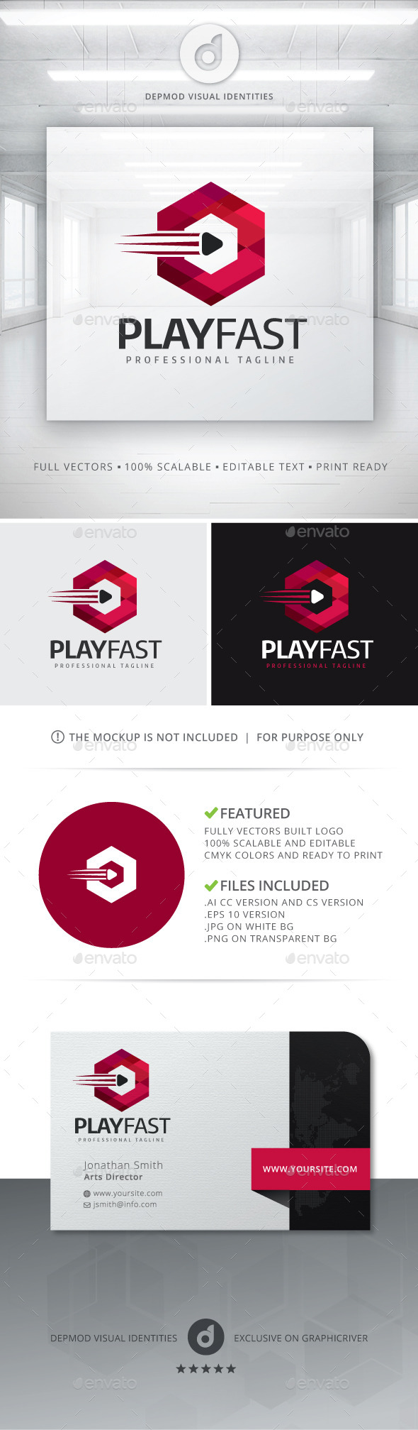 GraphicRiver Play Fast Logo 11080023
