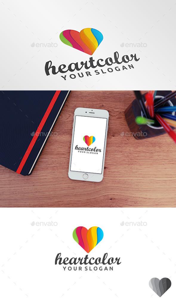 GraphicRiver Heart Color Logo 11080219