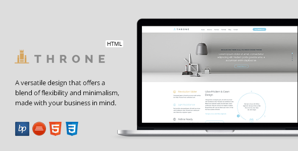 ThemeForest Throne Responsive Business HTML5 Template 11081027