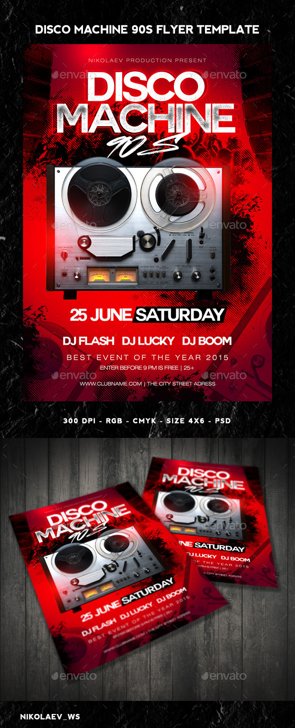 GraphicRiver Disco Machine Flyer 11081191