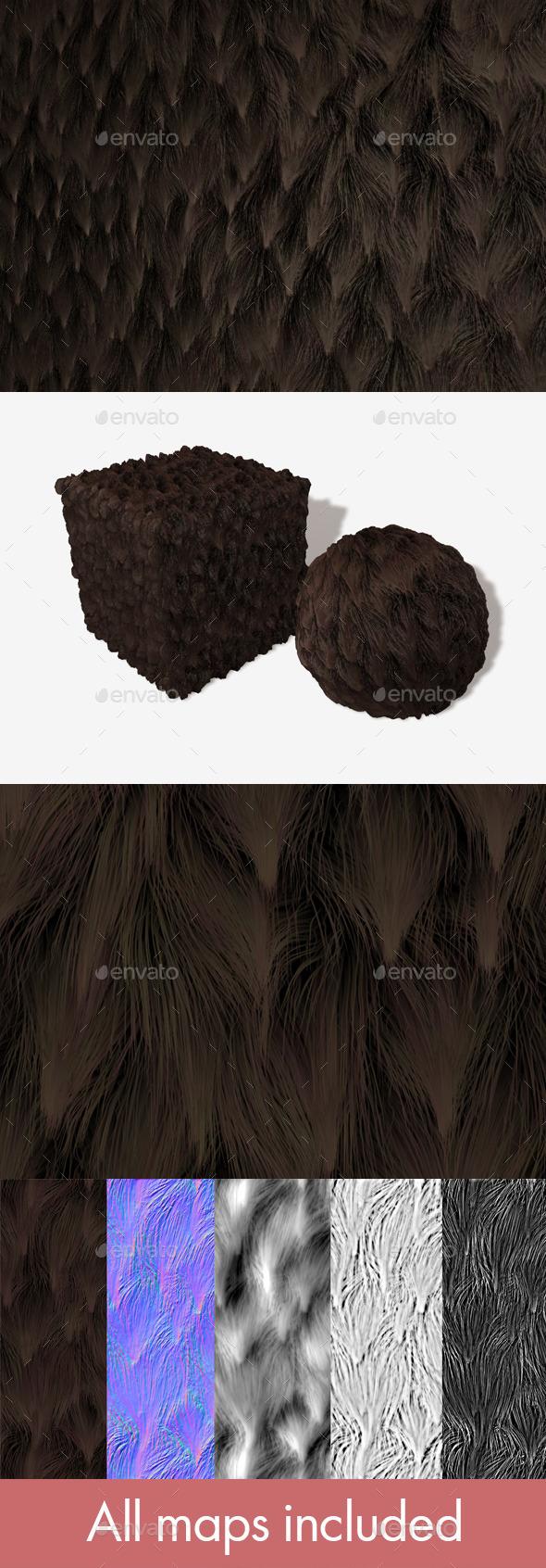 3DOcean Brown Clumpy Fur Seamless Texture 11081532