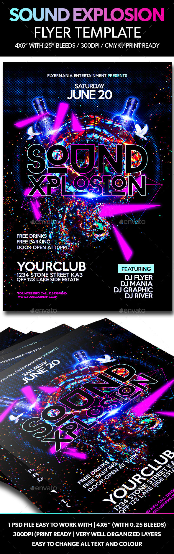 GraphicRiver Sound Explosion Flyer Template 11081586