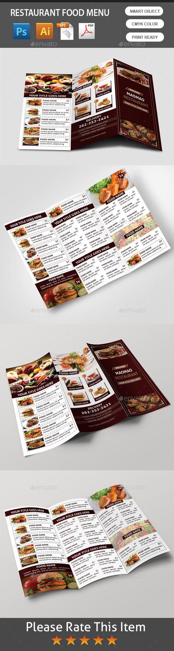 GraphicRiver Food Menu 11030544